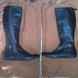 Women's Gucci Flat Black Boots